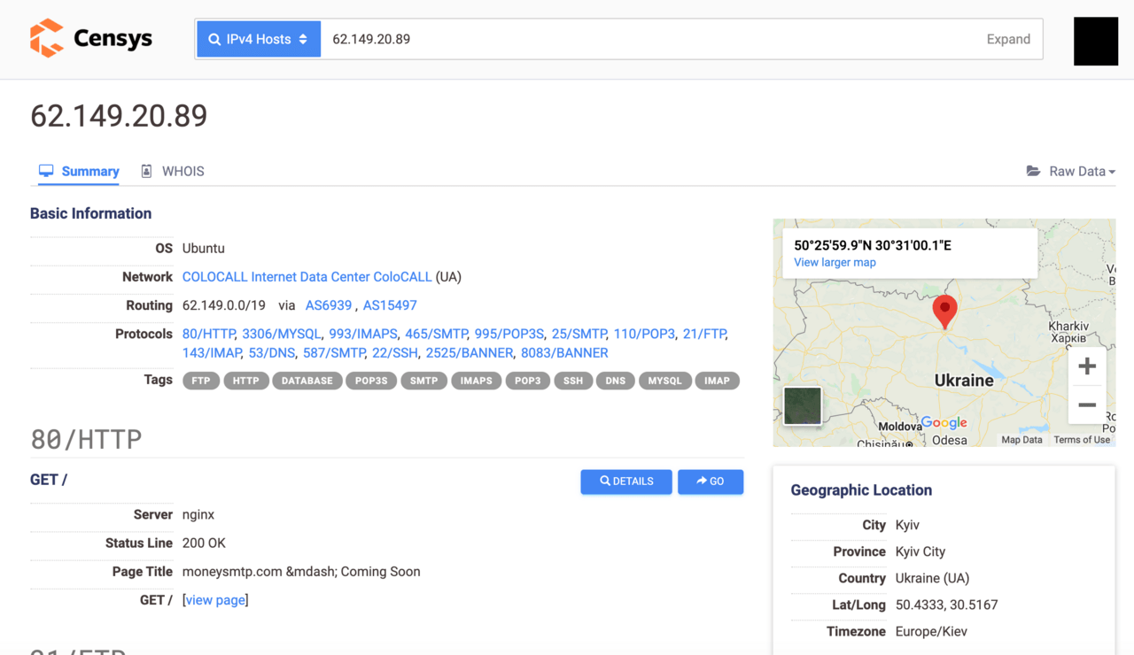 The GeoIP location of the IP addresses is a no-questions-asked provider in Ukraine.